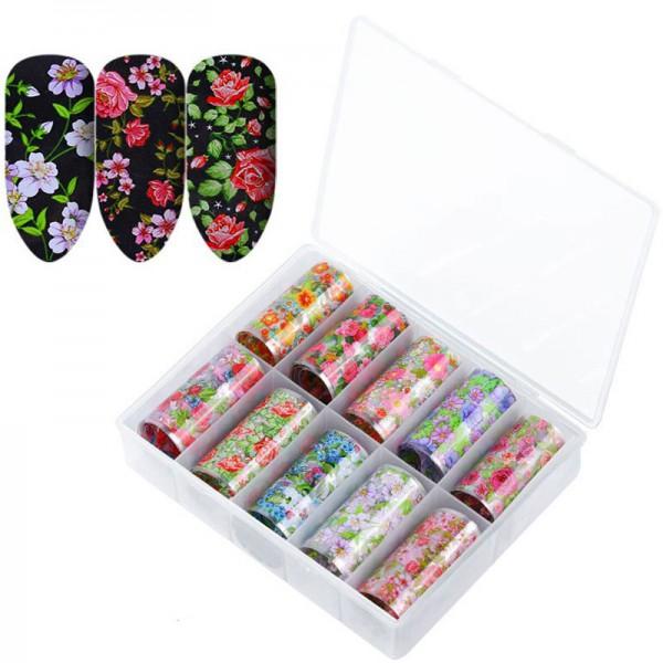 Transferfolien Box Blumen Muster Sommer