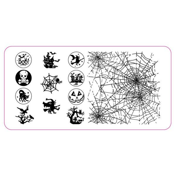 Stamping Schablone Halloween 1
