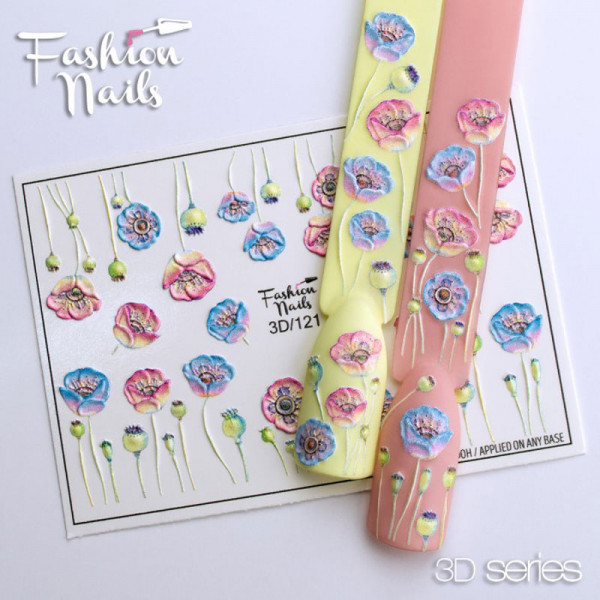3D Nail Slider 121 Fashion Nails Blumen Frühling