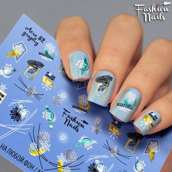 Winter Airbrush Slider 53 Fashion Nails