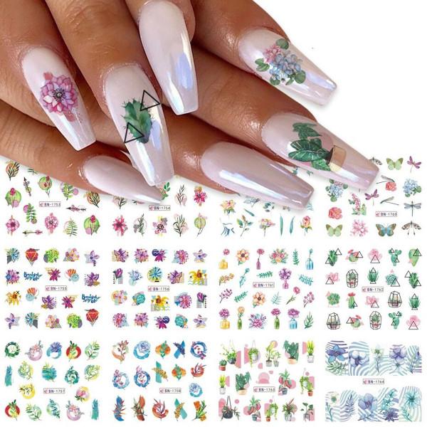 Blume Nailart Tattoo Sets für Nageldesign