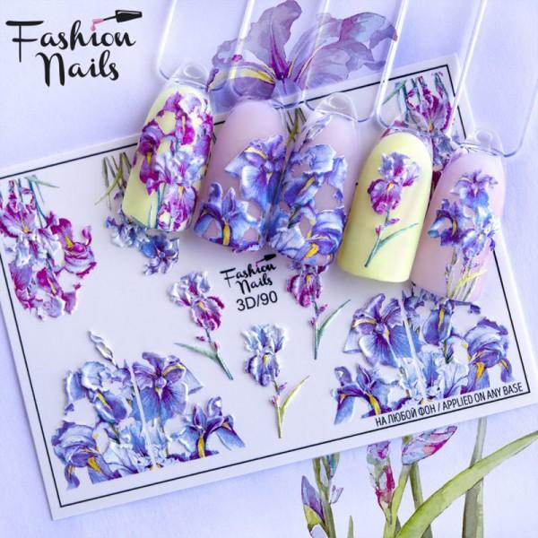 3D Nail Slider Blumen Frühling Sommer Nägel