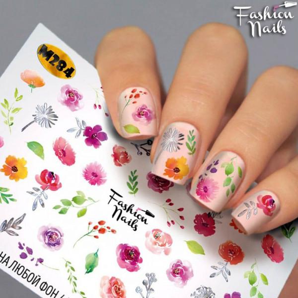 Blumen Metallic Slider von FashionNails herbst