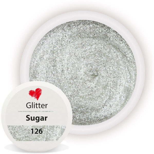 Glitter Farbgel Sugar White