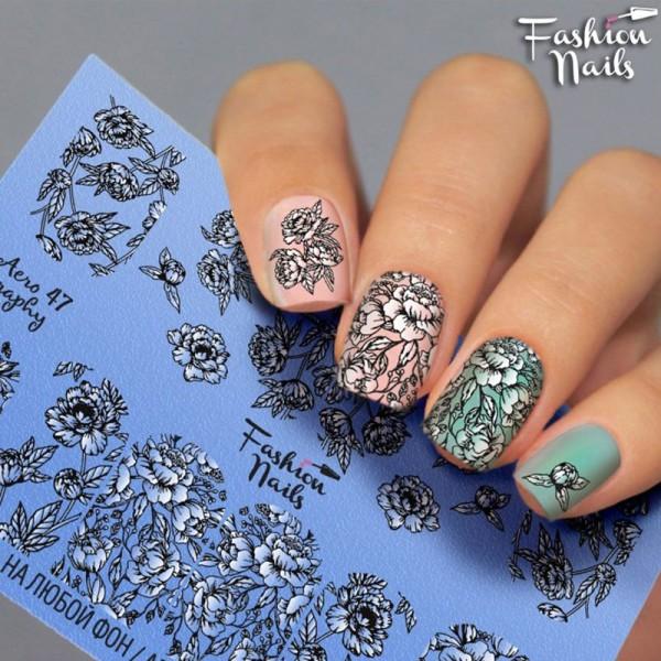 Fashion Nails Airbrush Slider Blumen Muster