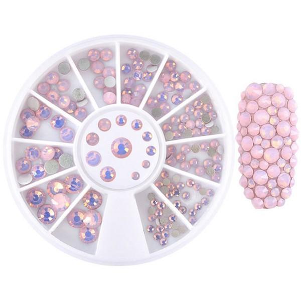 Glas Strasssteine Opal Pink Rondell