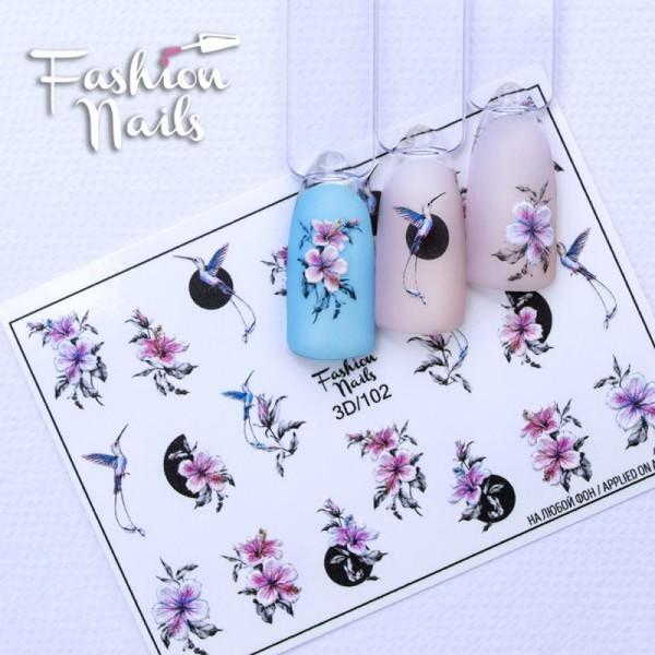 3D Slider 102 von Fashion Nail Blumen