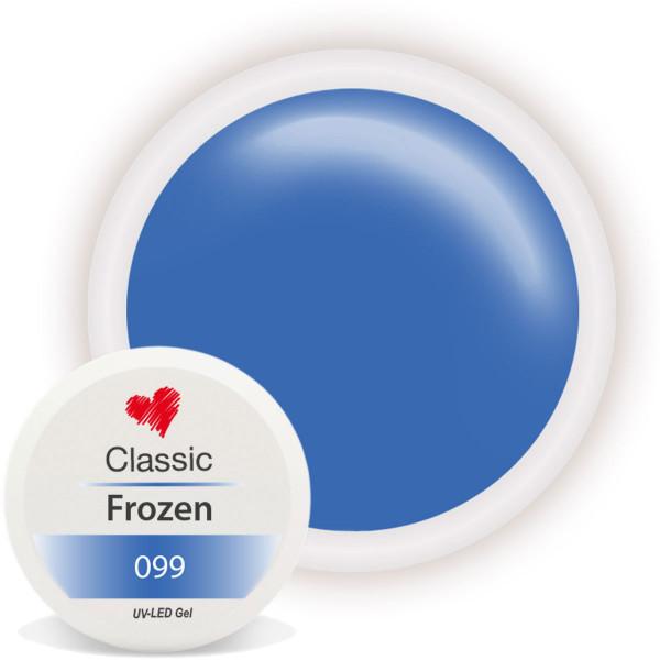 Classic Farbgel Frozen Blau Winter Nailart