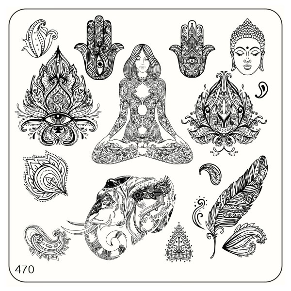 MoYou Nails Schablone Ethnic Style 470