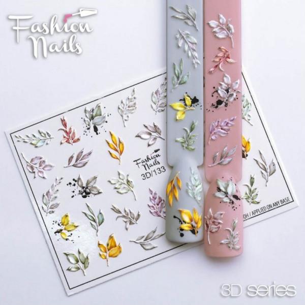 Blumen 3D Nail Slider 133 Fashion Nails