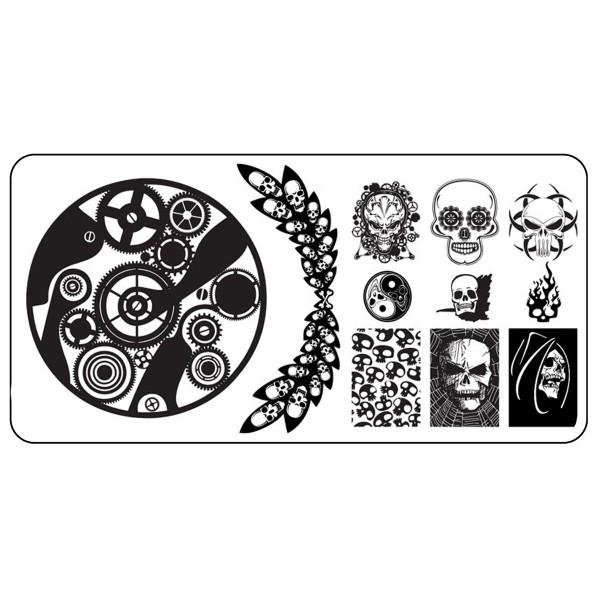 Stamping Schablone Skull 7