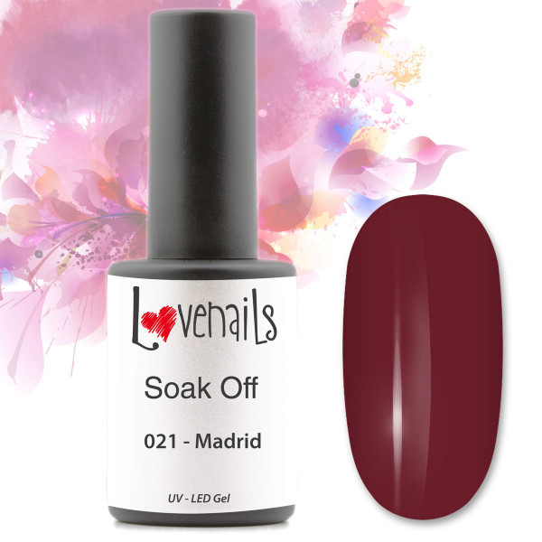 Soak Off Farbgel Rot Madrid Gel Polish
