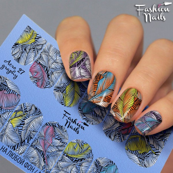 Airbrush Nail Slider Tropical Sommer