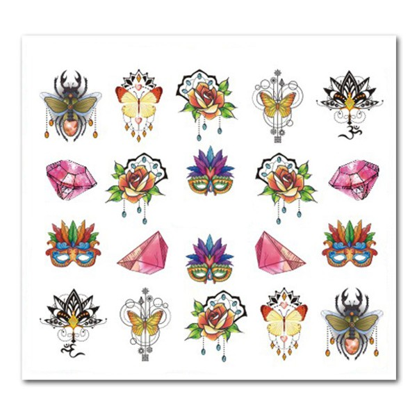 Mandala Nailart Tattoo Wraps Slider
