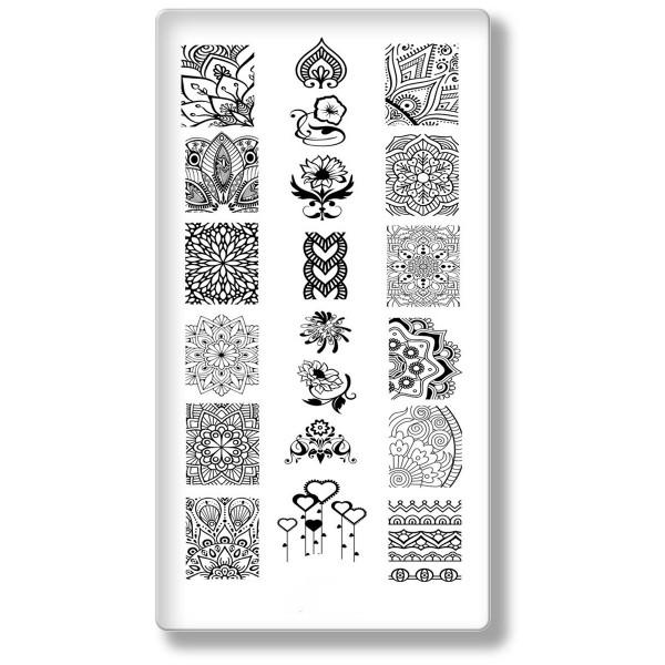 Stamping Schablone Mandala Nailart