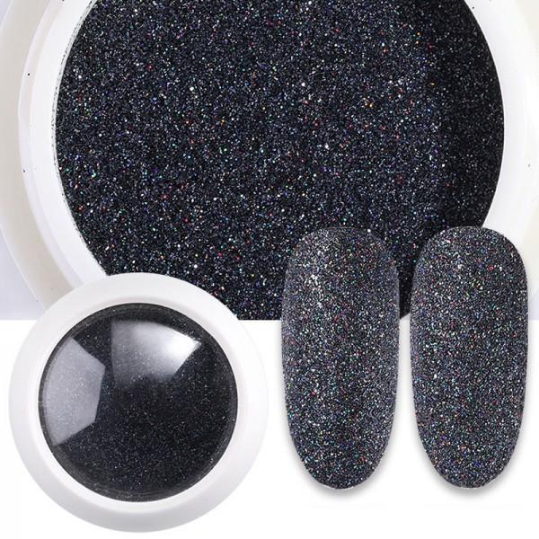 Sugar Glitter Nails Nailart Schwarz