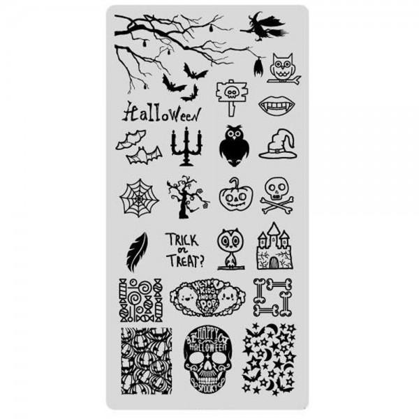 Stamping Schablone Halloween 7