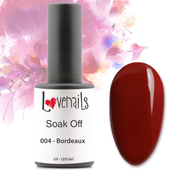Soak Off Farbgel Bordeaux Rot 10ml