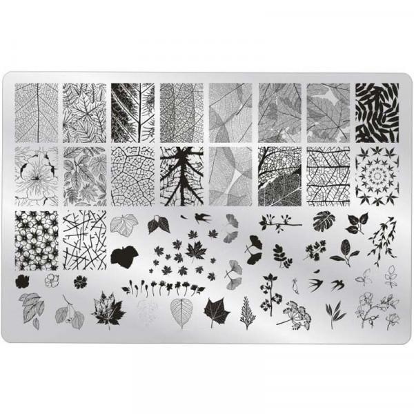 XXL Stamping Schablone Blätter