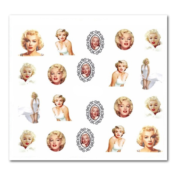 Nailart Tattoo Marilyn Monroe 18
