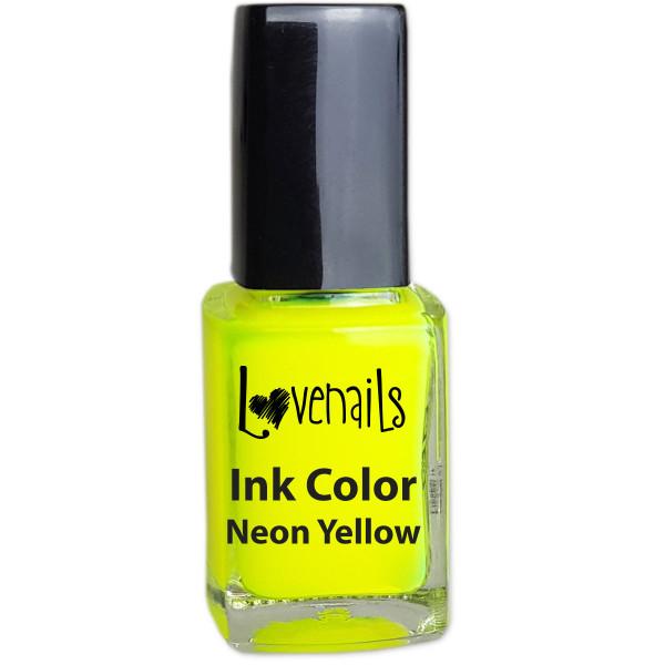Ink Color Neon Yellow Sommer Farben nägel
