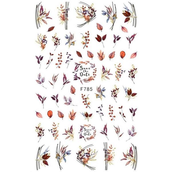 Herbst Nail Sticker für Nageldesign