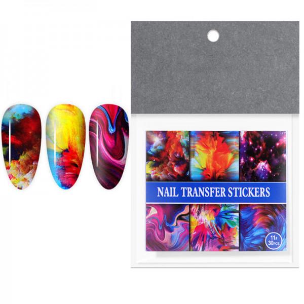 30 Transferfolien Set galaxy nailart set