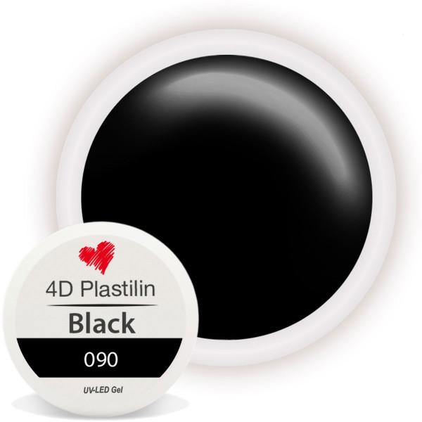 4D Plastilin Gel Schwarz für Nailart Objekte