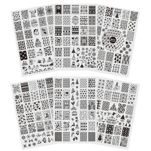 Stamping Schablone Xmas 6er Set