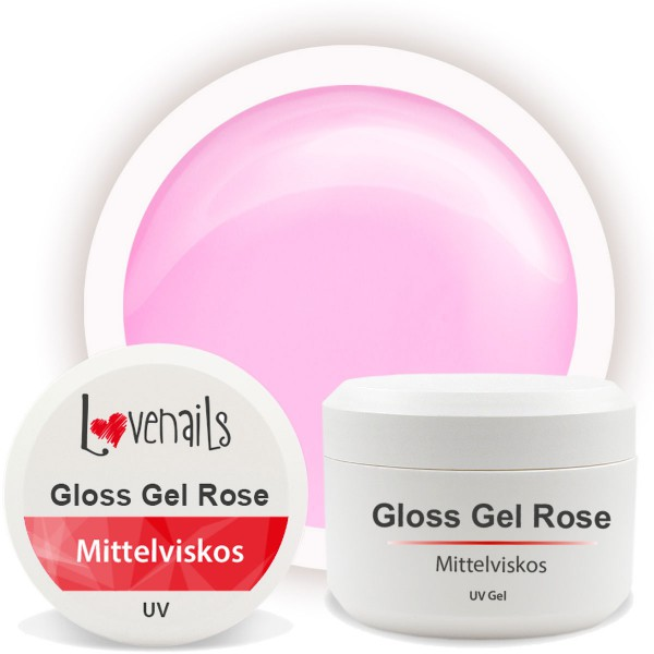Gloss Gel Rose 5ml Mittelviskos