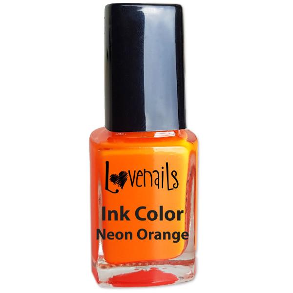 Ink Color Neon Orange Nageldesign sommer