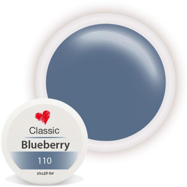 Classic Farbgel Blueberry blau UV Gel nailart