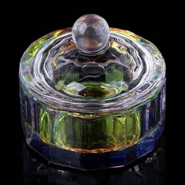 Dappen Dish Rainbow Nailart Glas