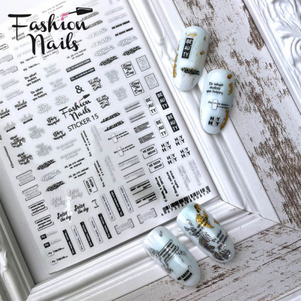 schrift Sticker Fashion Nails weihnachten