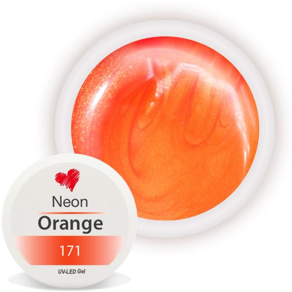 Neon Farbgel Orange für auffällige Nägel