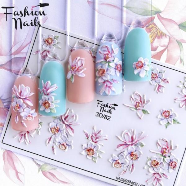 3D Nail Slider Frühling Blumen