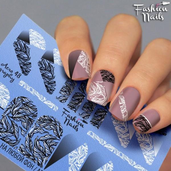 Airbrush Nail Slider Blätter Nailart