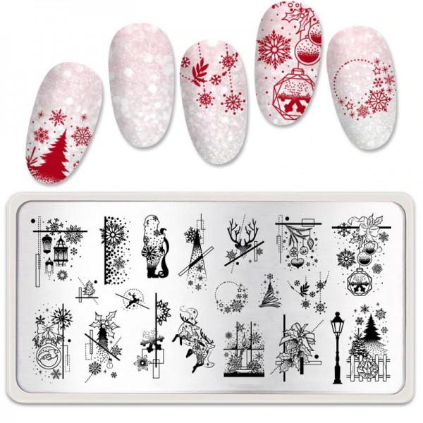 Xmas Stamping Schablone Weihnachten