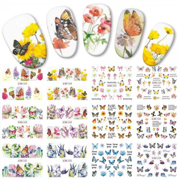Schmetterling Nailart Tattoo Sets für Nageldesign
