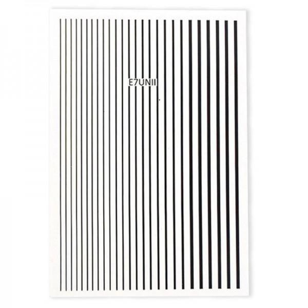 Flexible Stripes Schwarz Sticker Nails