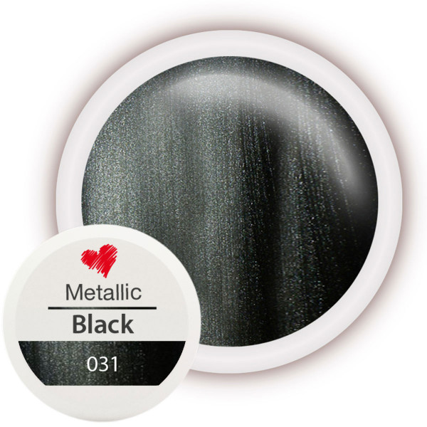 Metallic Farbgel 031 Black 5ml