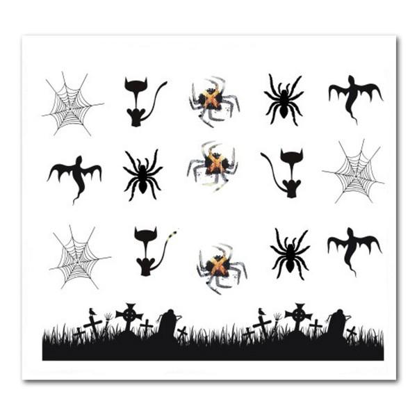 Nailart Tattoo Halloween 9