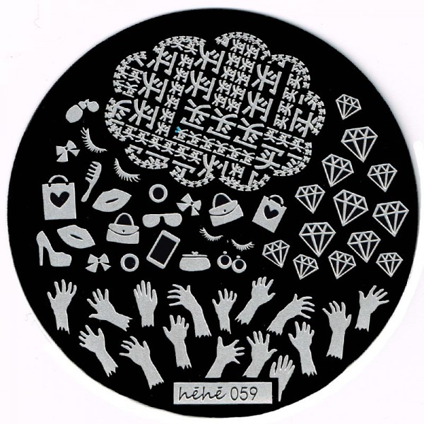Stamping Schablone HeHe-059