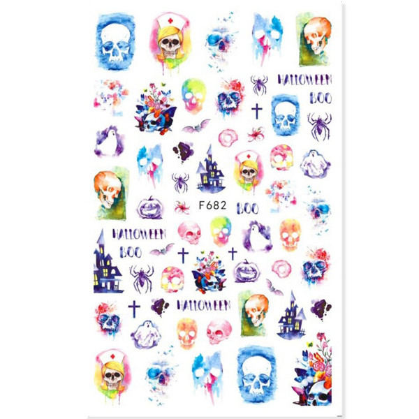 Nail Sticker Halloween Totenkopf