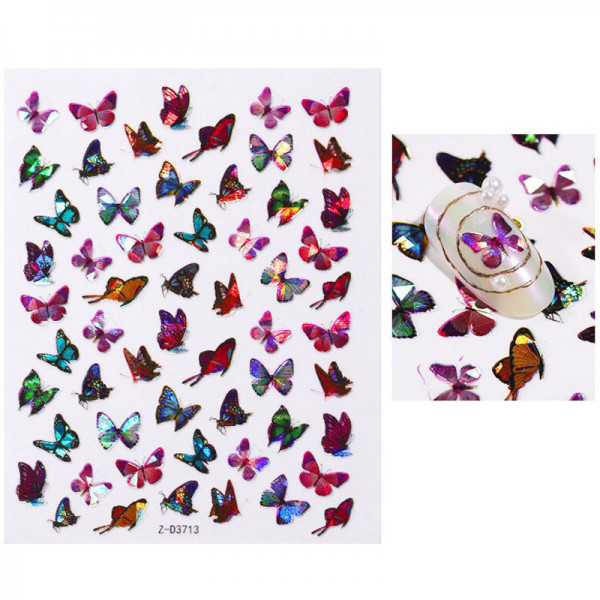 Nail Sticker Holo Schmetterling Nails