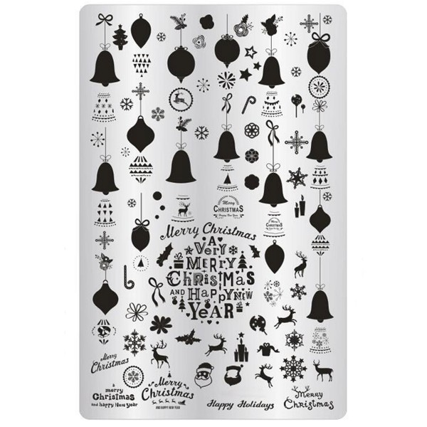 Stamping Schablone Xmas 15 Weihnachten Platte