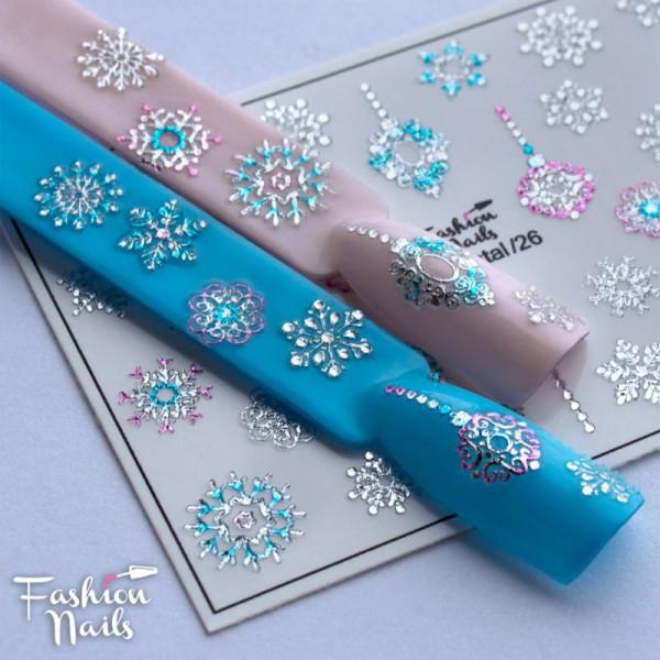 3D Crystal Nail Slider von Fashion Nails Winter