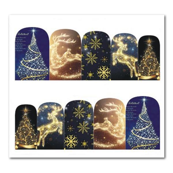 Weihnachten Nail Tattoo Slider Wrap Gold Advent
