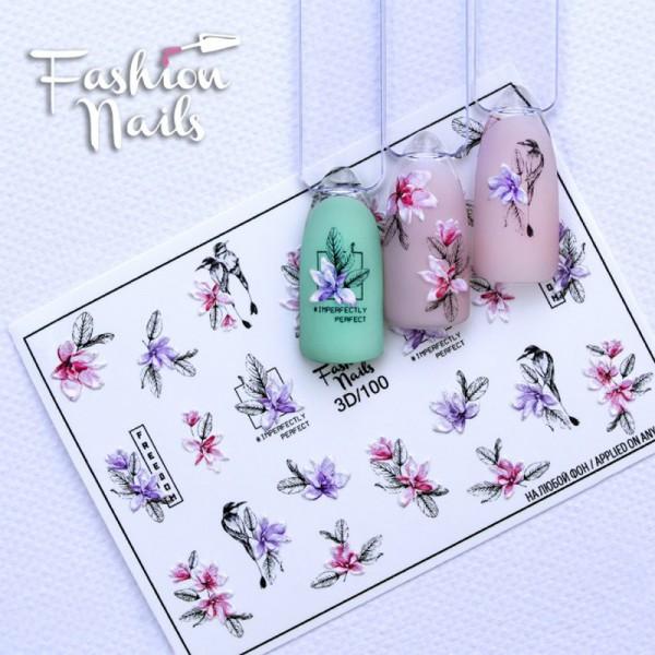 3D Slider 100 von Fashion Nail Blumen