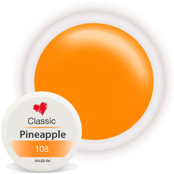 Classic Farbgel Pineapple Orange Nailart UV Gel